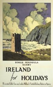 Original Dingle Travel Poster by London Midland and Scottish Railways and Paul Henry